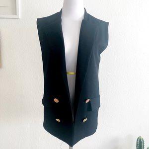 Zara TRF black Tuxedo Vest 🖤